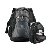 Wenger Swiss Army Tech Charcoal Compu Backpack-Stacked Shield/Phi Delta Theta