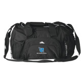 High Sierra Black Switch Blade Duffel-Stacked Shield/Phi Delta Theta