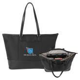Stella Black Computer Tote-Stacked Shield/Phi Delta Theta