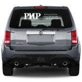 Full Color Extra Large Side/Rear White Window Decal-PHP
