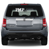 Full Color Large Side/Rear White Window Decal-PHP