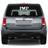Full Color Medium Side/Rear White 12 x 11 Window Decal-PHP