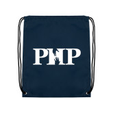 Navy Drawstring Backpack-PHP