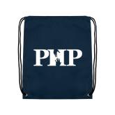 Navy Drawstring Backpack-PHP