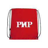 Nylon Red Drawstring Backpack-PHP