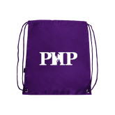 Purple Drawstring Backpack-PHP