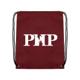Maroon Drawstring Backpack-PHP