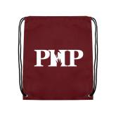 Maroon Drawstring Backpack-PHP