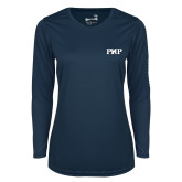 Ladies Syntrel Performance Navy Longsleeve Shirt-PHP