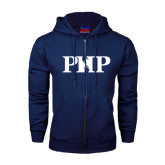 Navy Fleece Full Zip Hoodie-PHP