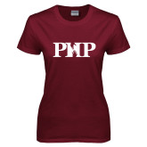 Ladies Maroon T Shirt-PHP