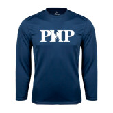 Syntrel Performance Navy Longsleeve Shirt-PHP