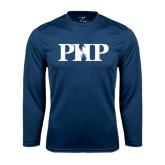Performance Navy Longsleeve Shirt-PHP