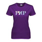 Ladies Purple T Shirt-PHP Foil