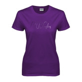 Ladies Purple T Shirt-PHP Ladies Foil