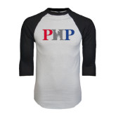 White/Black Raglan Baseball T-Shirt-PHP