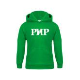 Youth Kelly Green Fleece Hood-PHP