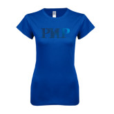 Next Level Ladies SoftStyle Junior Fitted Royal Tee-PHP Foil