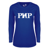 Ladies Syntrel Performance Royal Longsleeve Shirt-PHP