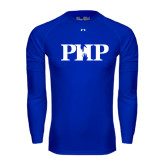 Under Armour Royal Long Sleeve Tech Tee-PHP