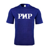 Performance Royal Heather Contender Tee-PHP