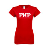 Next Level Ladies SoftStyle Junior Fitted Red Tee-PHP