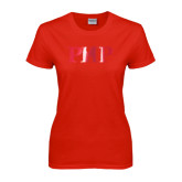 Ladies Red T Shirt-PHP Foil