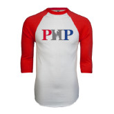 White/Red Raglan Baseball T-Shirt-PHP