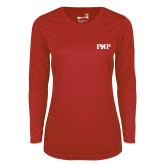Ladies Syntrel Performance Red Longsleeve Shirt-PHP