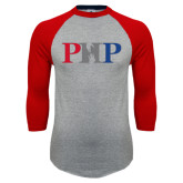 Grey/Red Raglan Baseball T-Shirt-PHP