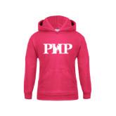 Youth Raspberry Fleece Hood-PHP