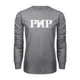 Grey Long Sleeve T Shirt-PHP