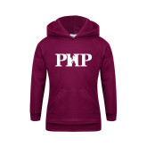 Youth Maroon Fleece Hoodie-PHP