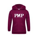 Youth Maroon Fleece Hood-PHP