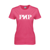 Ladies Fuchsia T Shirt-PHP