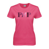 Ladies Fuchsia T Shirt-PHP Foil