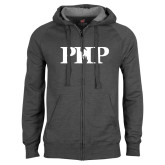 Charcoal Fleece Full Zip Hoodie-PHP