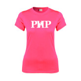 Ladies Performance Hot Pink Tee-PHP