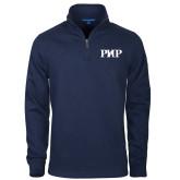Navy Slub Fleece 1/4 Zip Pullover-PHP
