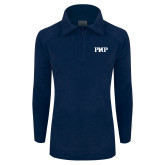 Columbia Ladies Half Zip Navy Fleece Jacket-PHP