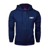 Navy Fleece Full Zip Hood-PHP