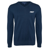 Classic Mens V Neck Navy Sweater-PHP
