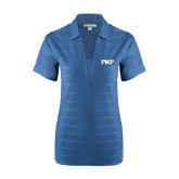 Ladies Indigo Blue Horizontal Textured Polo-PHP