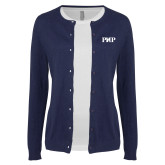 Ladies Navy Cardigan-PHP