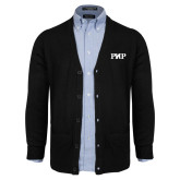 Black V Neck Cardigan w/Pockets-PHP