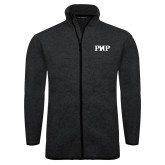 Black Heather Fleece Jacket-PHP