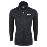 Black Heather Ladies Fleece Jacket-PHP
