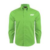 Red House Green Herringbone Long Sleeve Shirt-PHP