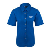 Ladies Royal Twill Button Up Short Sleeve-PHP