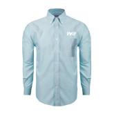 Mens Light Blue Oxford Long Sleeve Shirt-PHP
